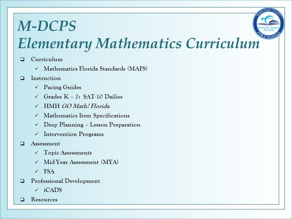 Elementary Mathematics Essentials Department of Mathematics ...