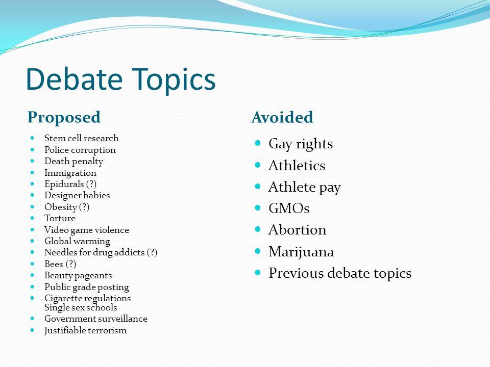 terrorism topics for debate