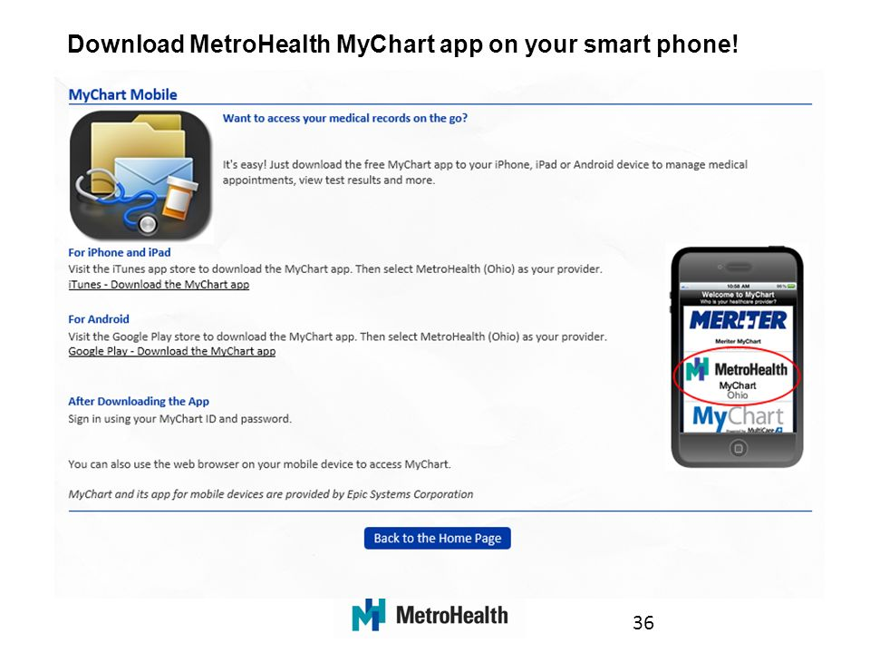Your guide table of contents welcome to mychart 3 how
