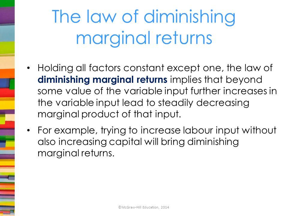 diminishing marginal returns example