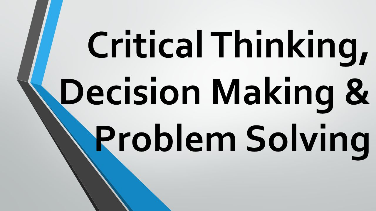 critical thinking in problem solving
