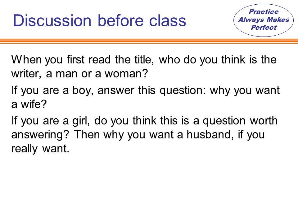 why i want a husband