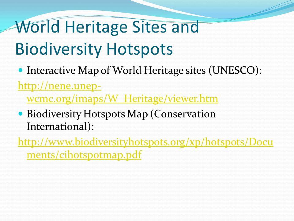 World heritage sites and biodiversity hotspots interactive map of 2 world heritage sites and biodiversity hotspots interactive map gumiabroncs Gallery