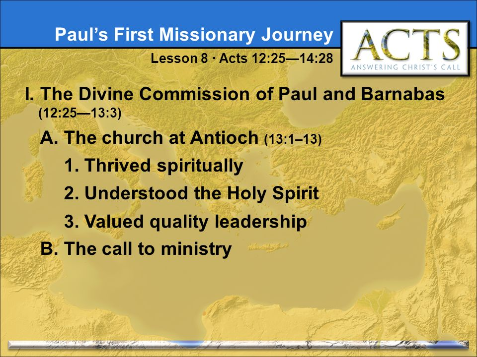 3 Pauls First Missionary Journey