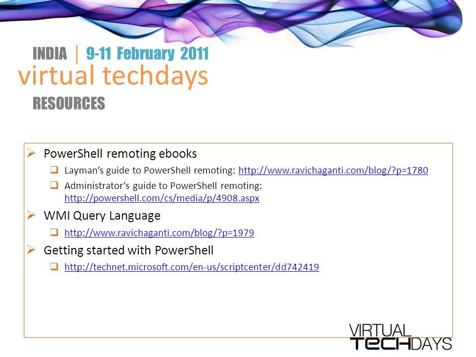 Virtual techdays INDIA │ 9-11 February 2011 Monitoring and