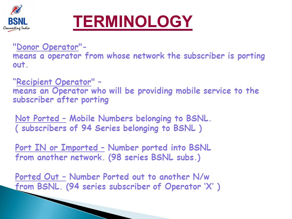 "MOBILE NUMBER PORTABILITY "" means the facility which allows a"