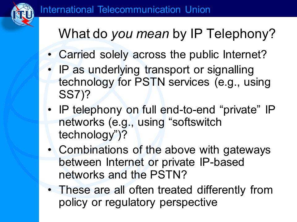 International Telecommunication Union ENUM: Convergence of