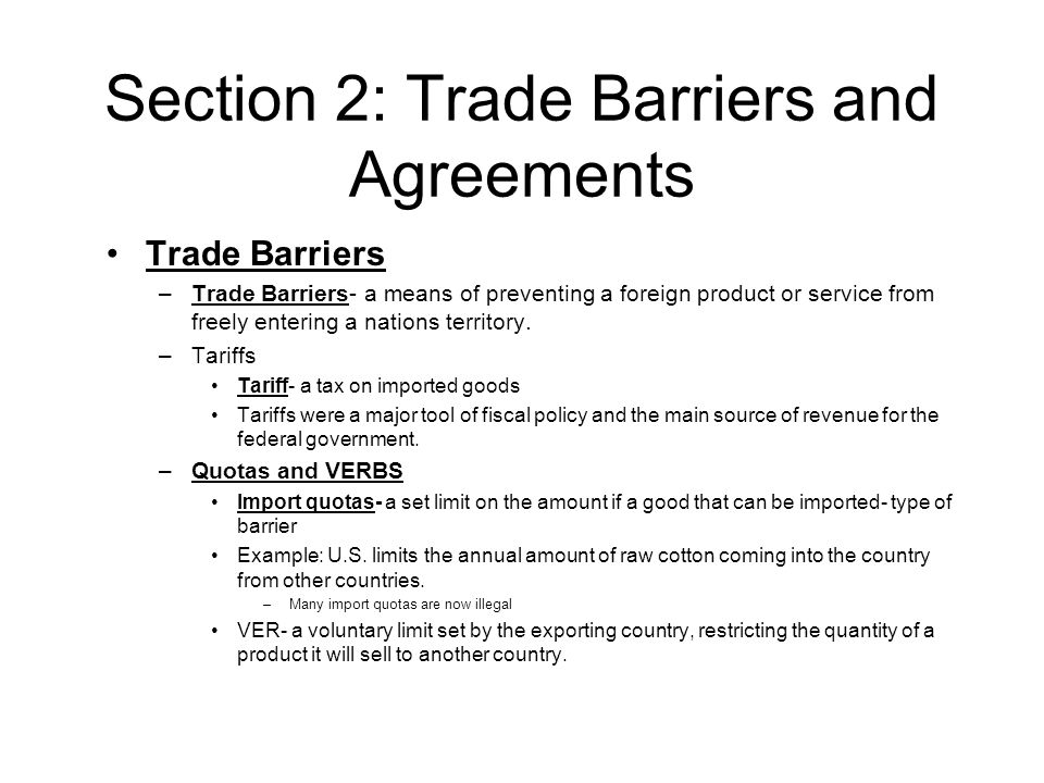 Chapter 17 Civil Liberties International Trade Section 1 Absolute