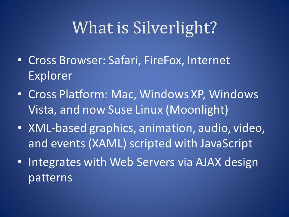 Silverlight for Web Hosting Companies Michael S  Scherotter