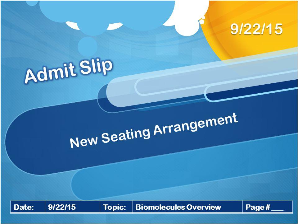 seating arrangement dating
