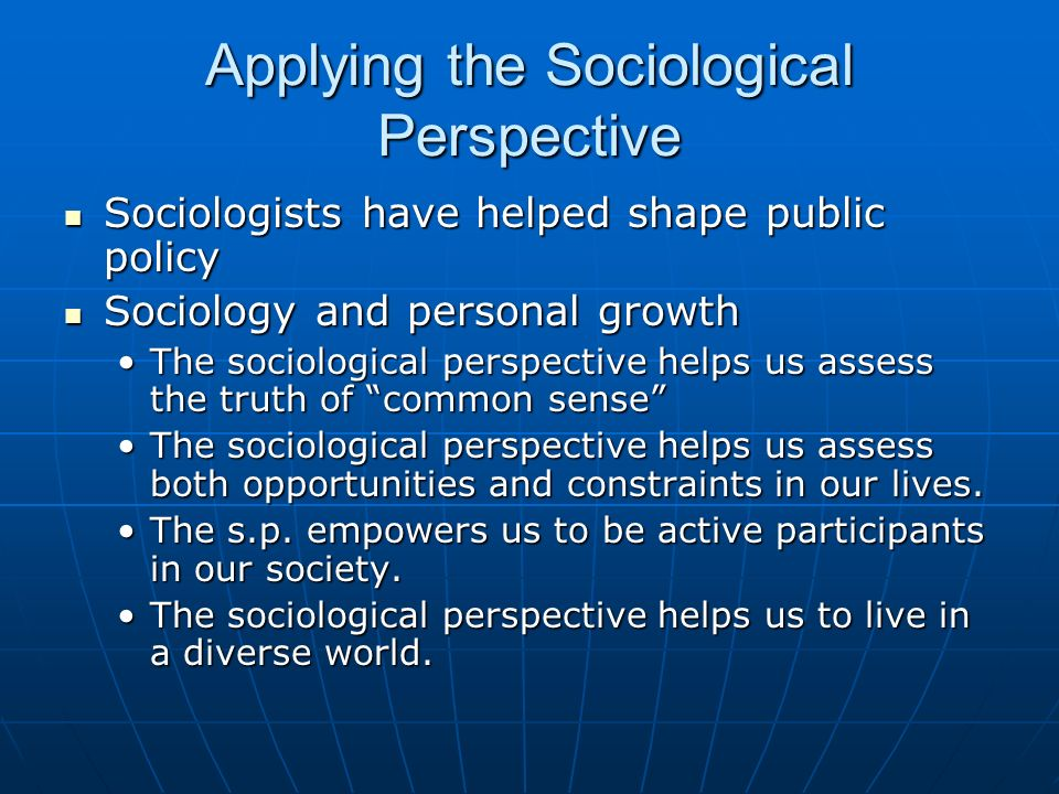 growth of sociology
