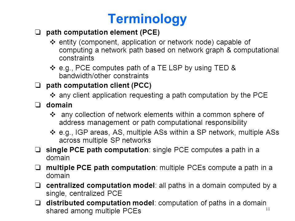 1 Path Computation Element (PCE) Architecture (draft-ash-pce