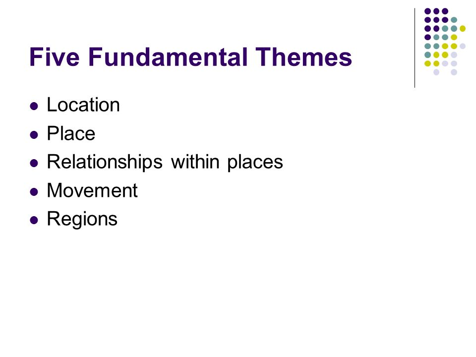 Introduction to geography arthur getis judith getis jerome d 16 five fundamental themes location place relationships within places movement regions fandeluxe Images