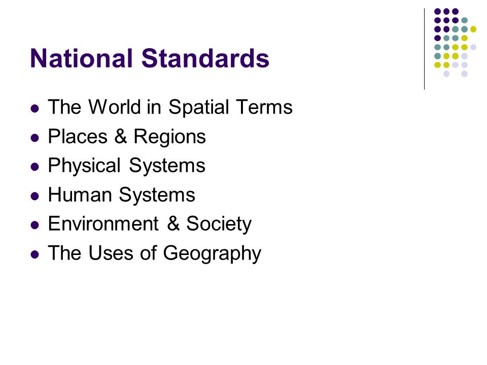 Introduction to geography arthur getis judith getis jerome d 17 national standards the world in spatial terms places regions physical systems human systems environment society the uses of geography fandeluxe Images