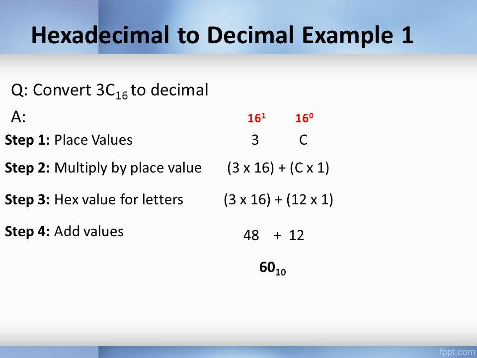 DECIMALBINARY a) b) c) d) e) f) Revision Exercise