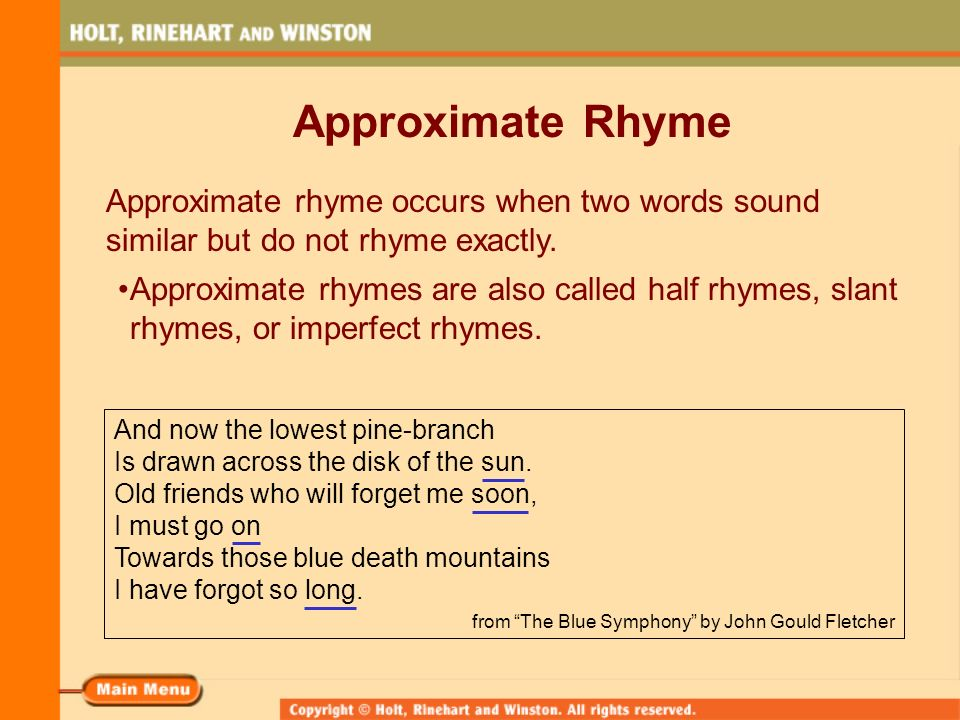 words that rhyme with soon