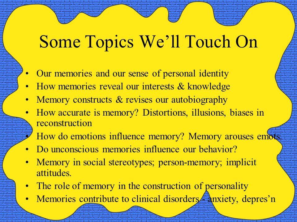 memory topics in psychology