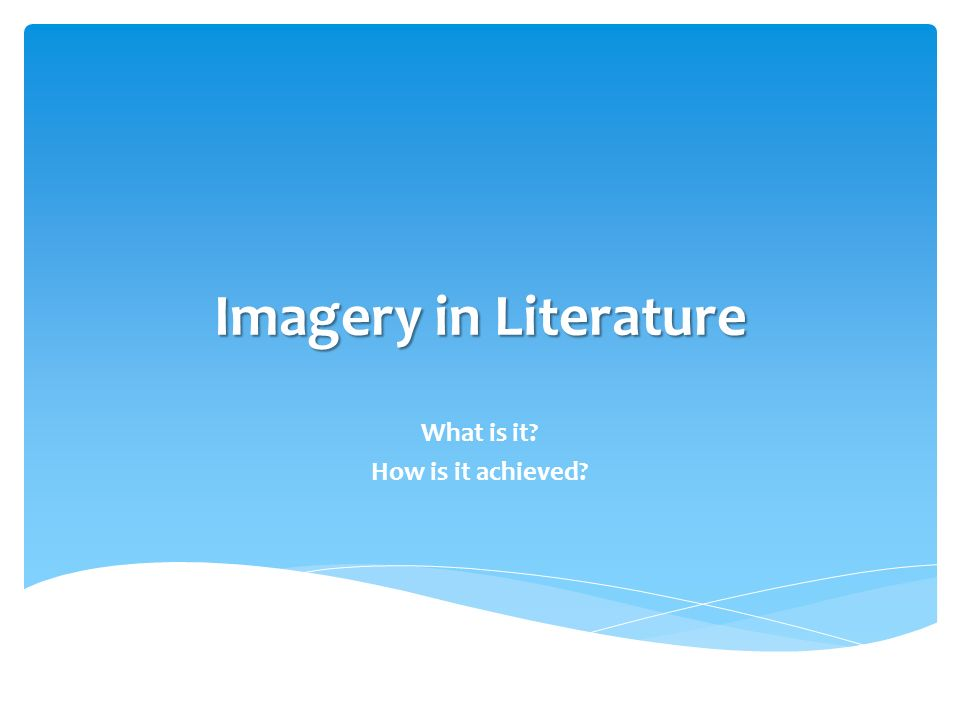 auditory imagery in literature