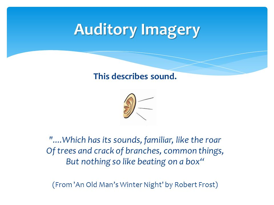Imagery in Literature What is it? How is it achieved? - ppt