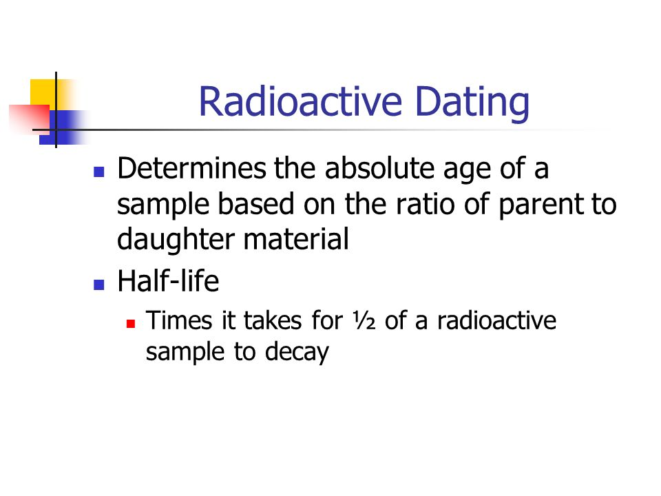 What are some examples of radioactive dating