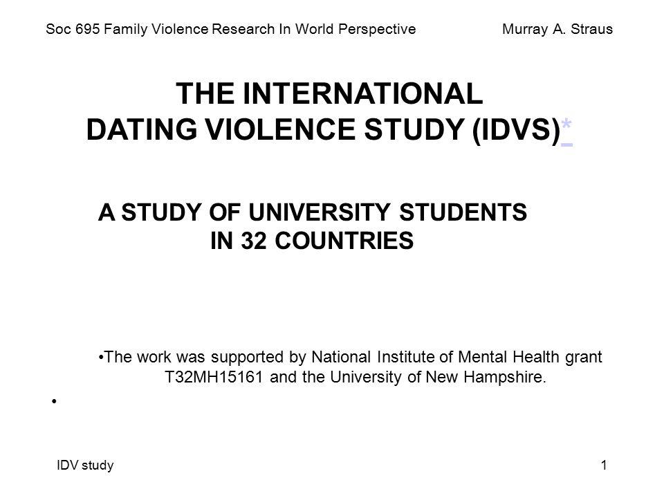 Straus international dating violence