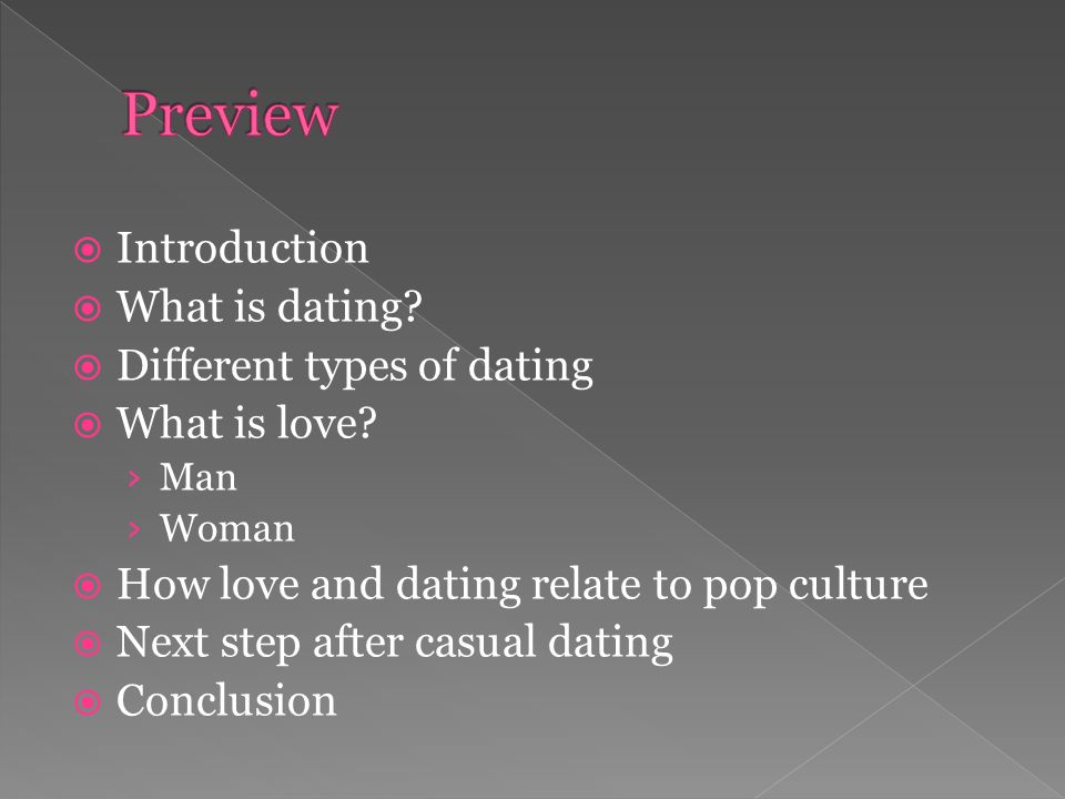 What are the different types of dating and explain