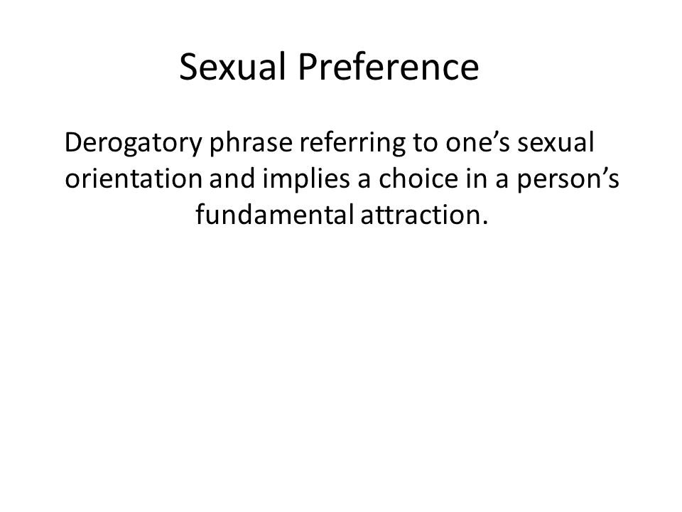 Phrase questioning sexual orientation