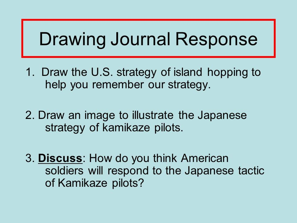 Drawing Journal Response 1. Draw the U.S.