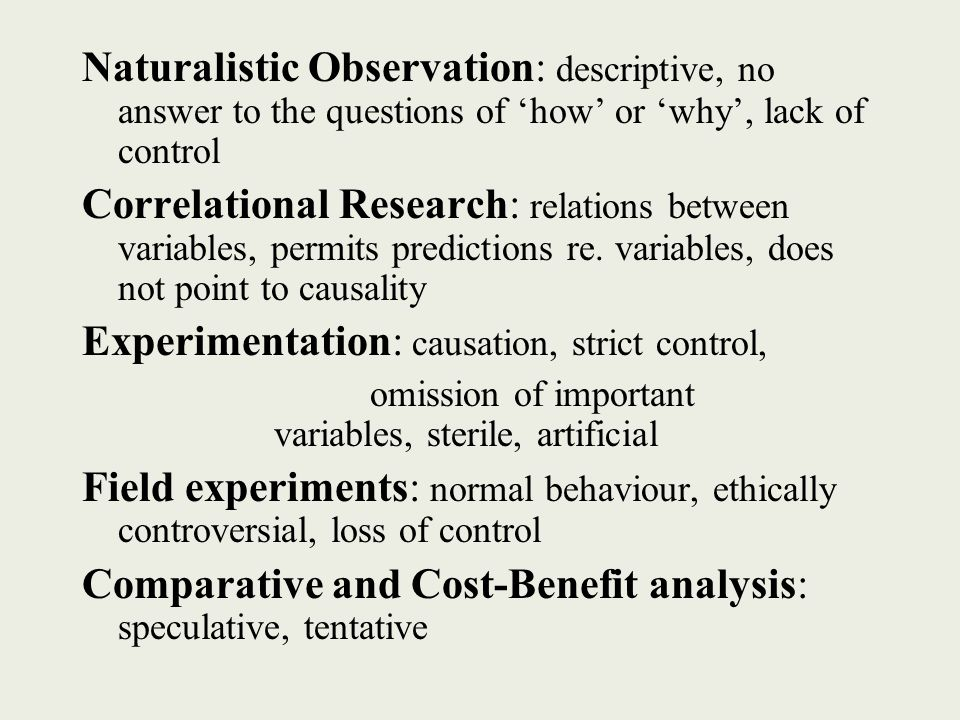benefits of naturalistic observation