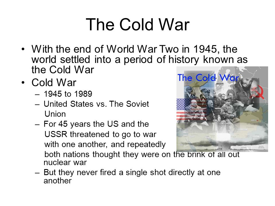 an analysis of the cold war between 1946 and 1961 Article shared by:  after the second world war, the usa and ussr became two super powers one nation tried to reduce the power of other indirectly the competition between the super powers led to the cold war.
