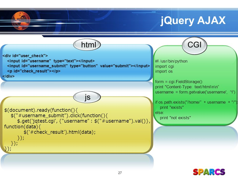 LOGO sparcs org 1 jQuery Tutorial Presenter ㅎㅇㅎㅇ  - ppt download