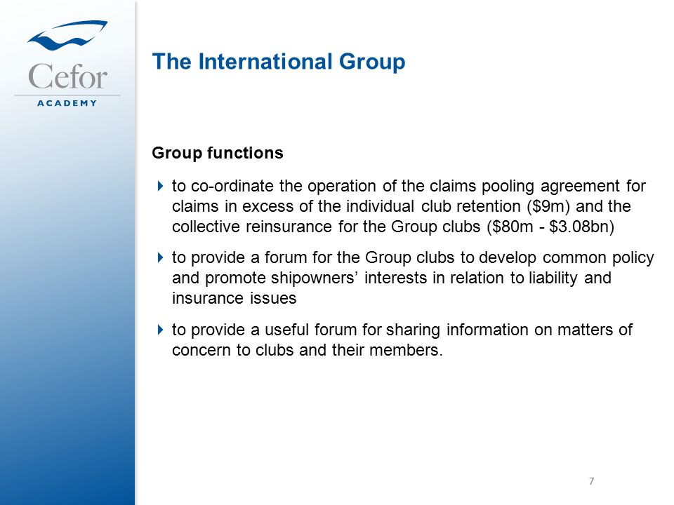 International Group And The Pooling System Lars Nilsson The Swedish