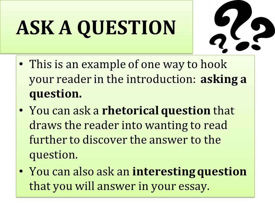 ways to hook your reader