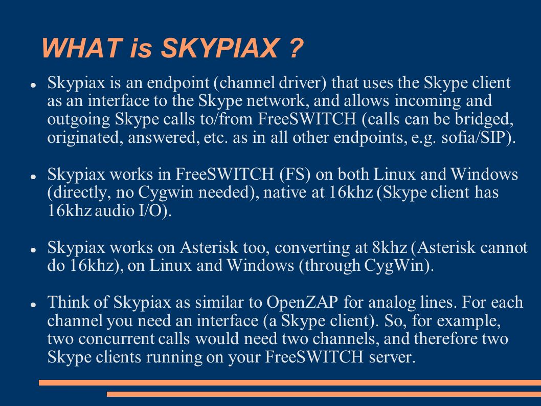 SKYPIAX, how to add Skype capabilities to FreeSWITCH (and