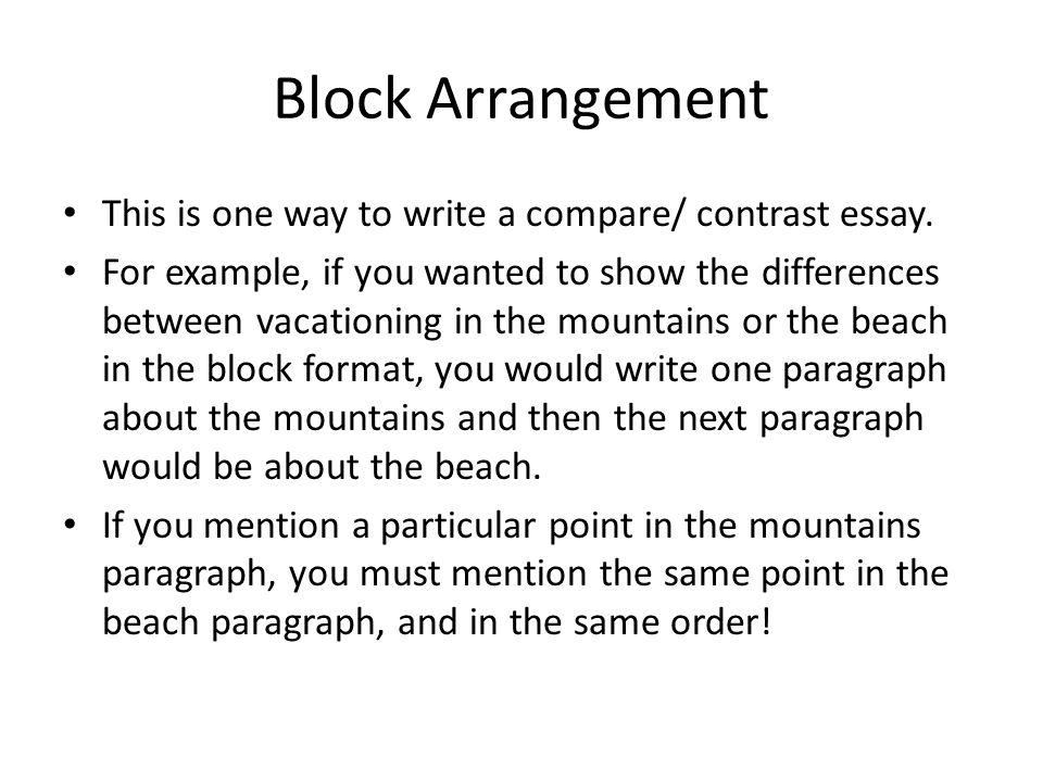 3 block arrangement