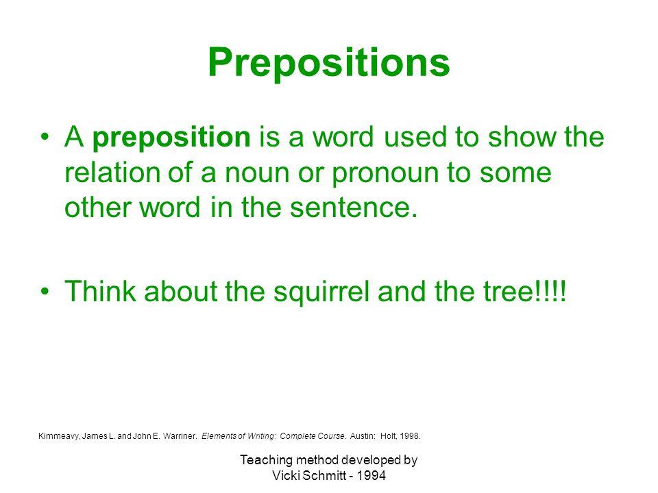 Teaching Method Developed By Vicki Schmitt The Parts Of Speech Noun
