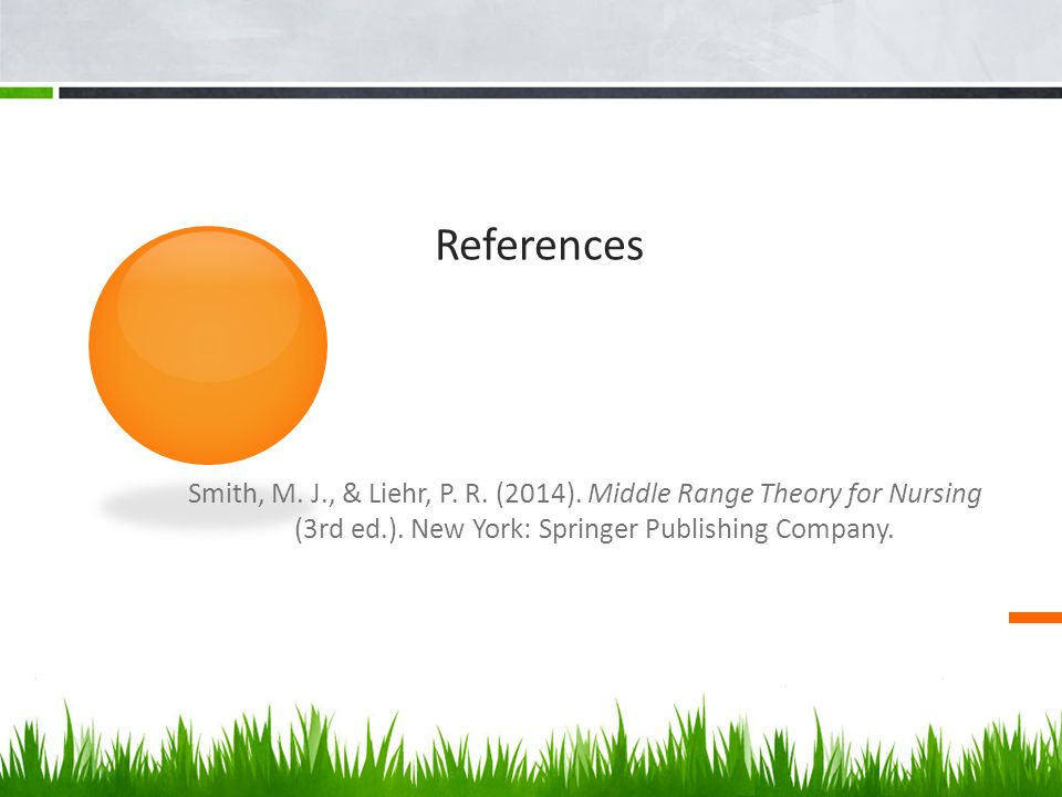 smith and liehr middle range theory