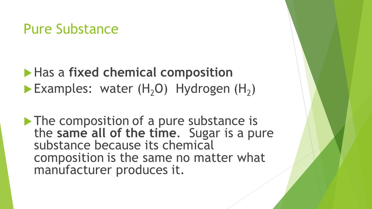 What substance is water