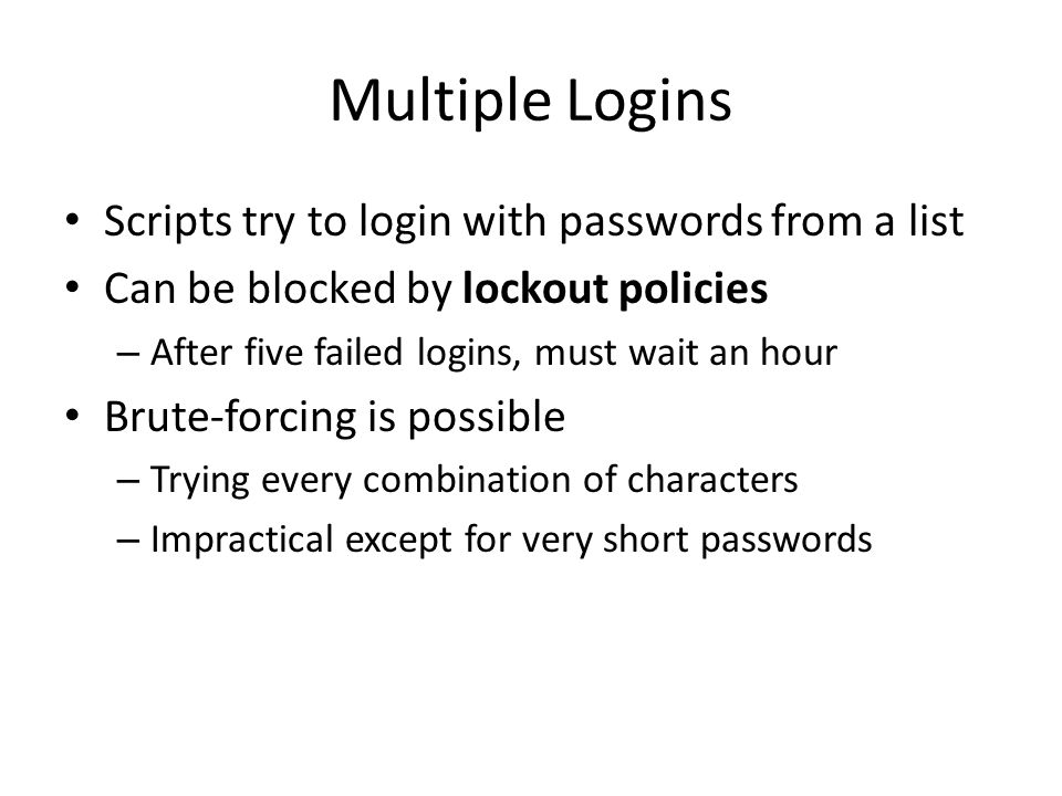 CNIT 124: Advanced Ethical Hacking Ch 9: Password Attacks  - ppt