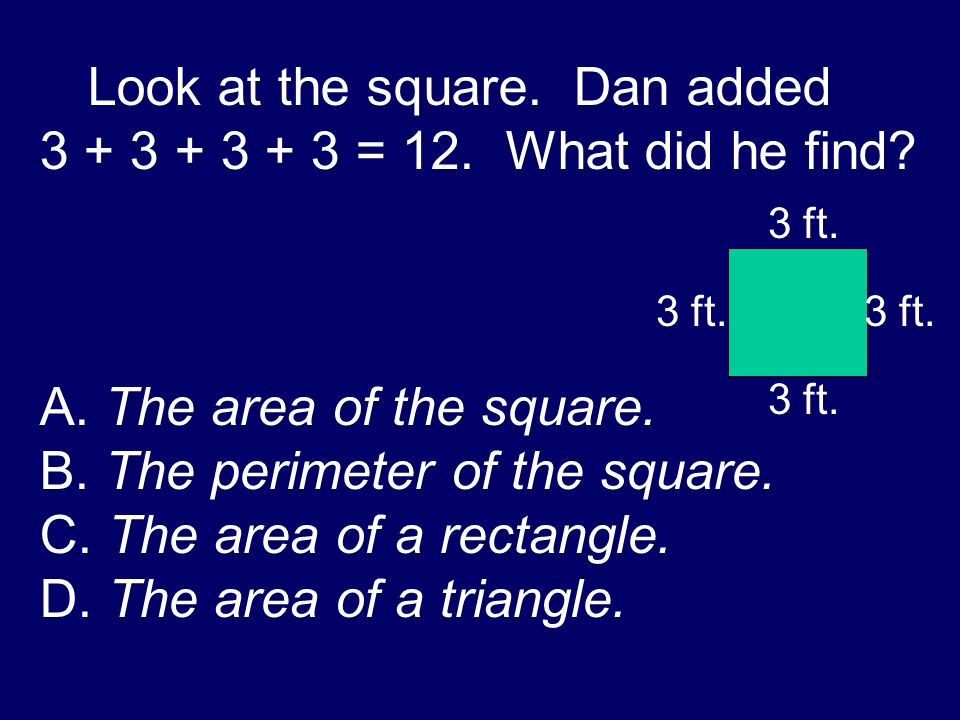 A. The perimeter of the rectangle