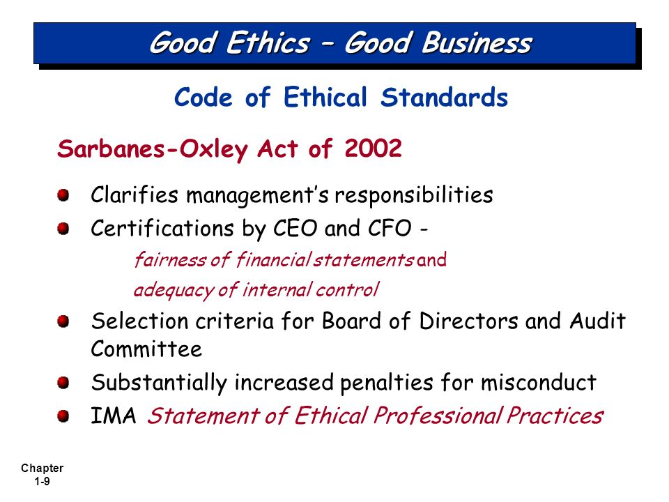 ima ethical standards Members of ima shall behave ethically a commitment to ethical professional practice includes overarching principles that express our values, and standards that guide our conduct.