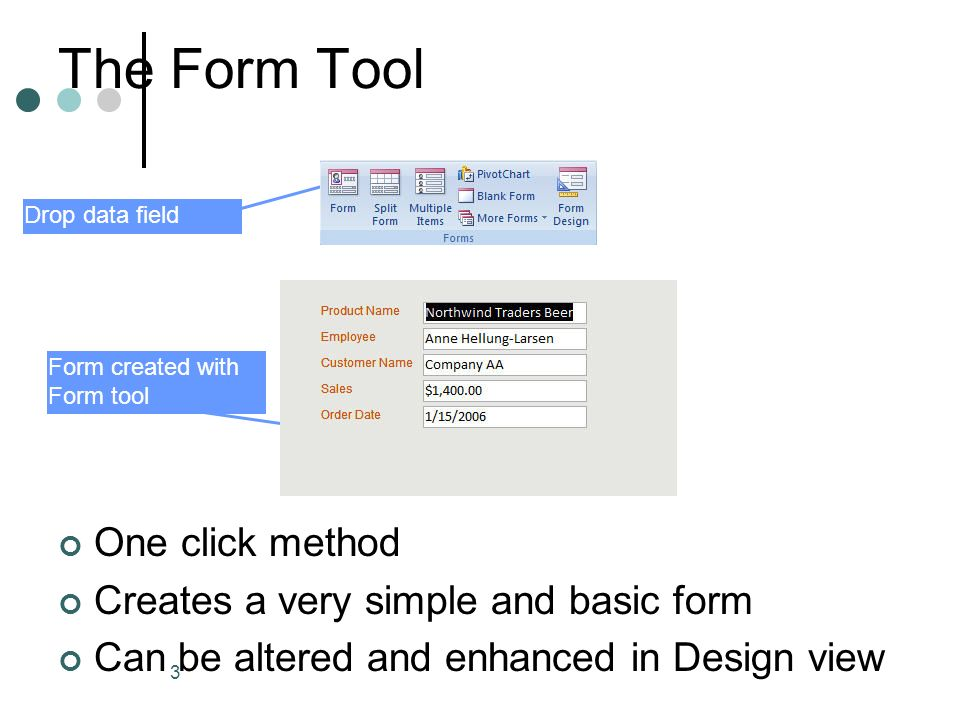 1 11 Exploring Microsoft Office Access  2 Methods of Form