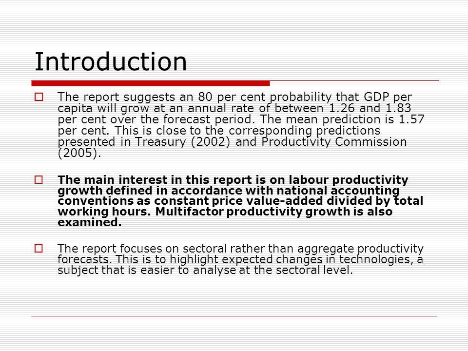 Forecasting Productivity Growth: 2004 to 2024 Productivity