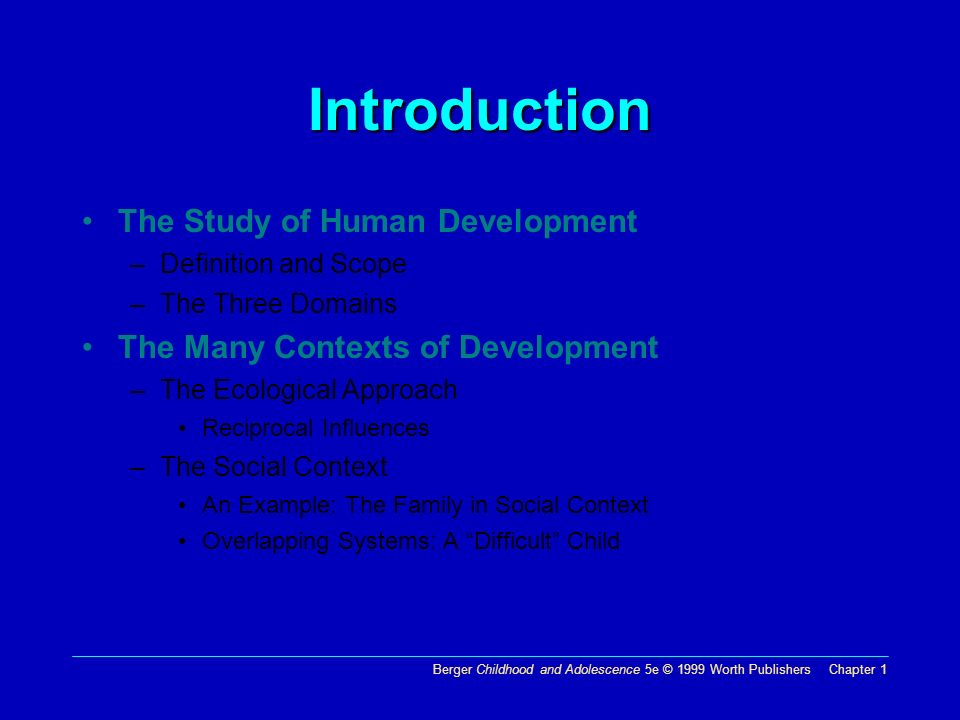 three domains of human development