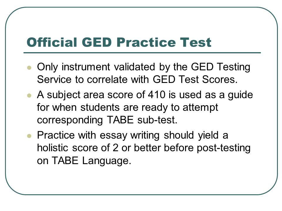 south carolina ged practice test