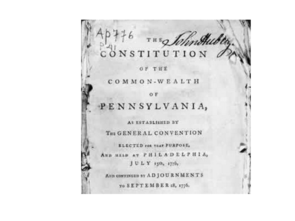 Pennsylvania (1776)—rights That all men are born equally free and