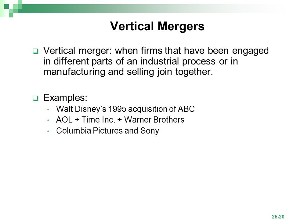 Vertical Merger Example Choice Image Example Cover Letter For Resume