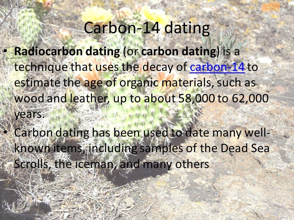 carbon 14 and potassium argon dating