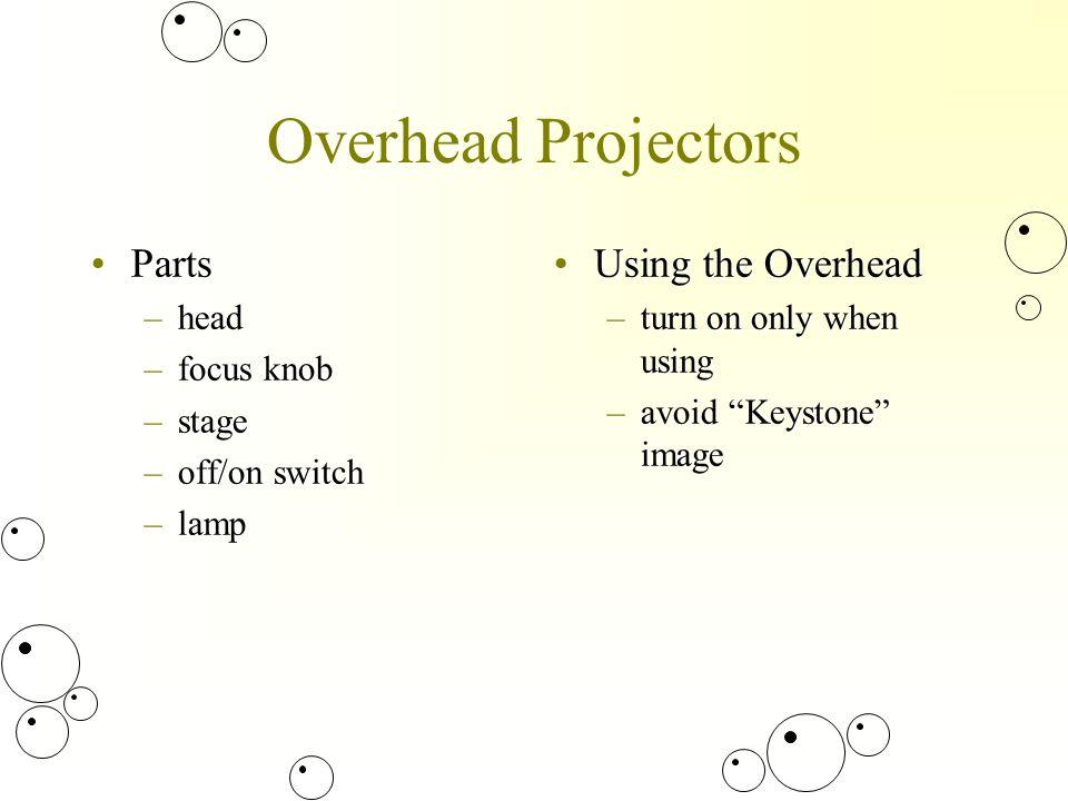 Instructional Materials  Overhead Projectors PartsParts