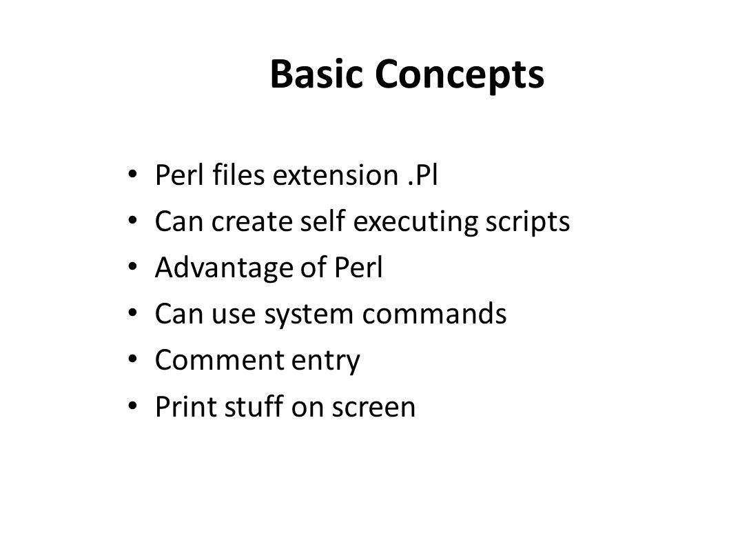 perl tutorial. why perl ??? practical extraction and report language